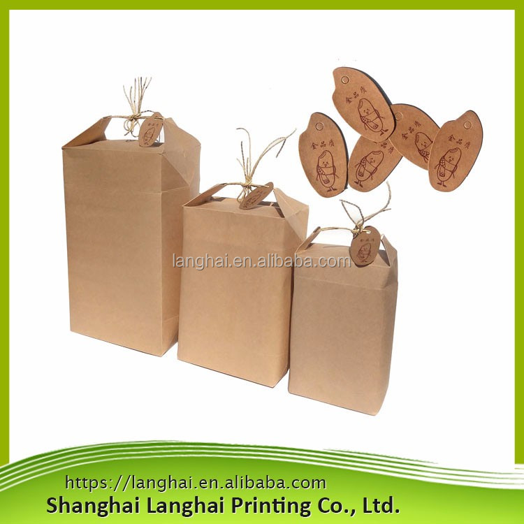 Side gusset kraft paper flat bottom bag/Kraft foil lined food bag/Custom ziplock bag food stand up pouch kraft paper bag