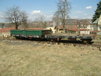 Used railway flat wagon ; container wagon