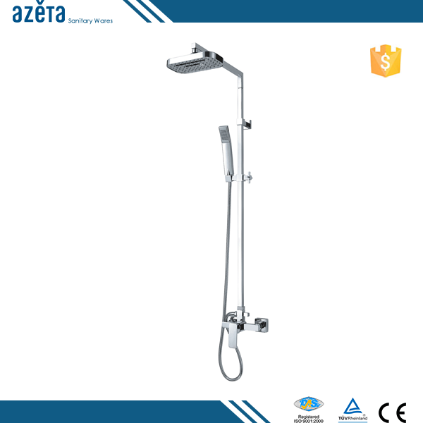 New Brass Chrome Wholesale Square Bath&Shower Sets With Hand Panel Mixer