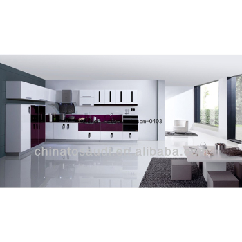 Bespoke durable modern designed lacquer kitchen cabinet