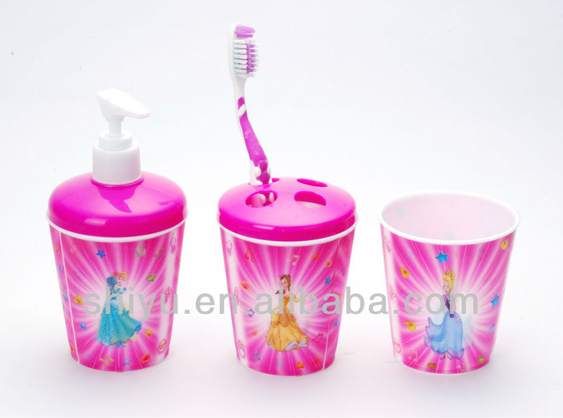 Plastic Tooth Glass ( Promotional 3D Lenticular Cup ), Plastic Bathroom Set