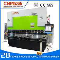 Hydraulic CNC Press Brake MB8 series 4 metres Plate Bending Machine 300Tons capacity 5 axis