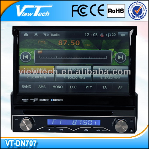 7 Inch taxi in dash gps dvd player car audio