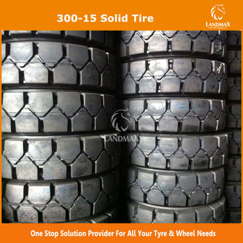 300-15 Rubber Forklift Solid Tire