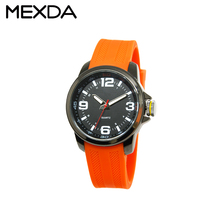 sport hot sell big case silicon strap waterproof water resistant watch 5atm custom logo wristwatch for men