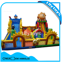 Giant inflatable clown city playground, fun inflatable amusement park for sale
