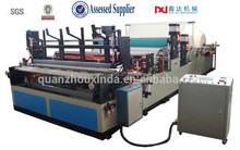 Full-automatic high speed embossing perforating rewinding toilet tissue roll making machine