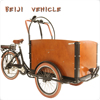 CE Holland bakfiets family cargo electric coffee trike with cabin box for shopping