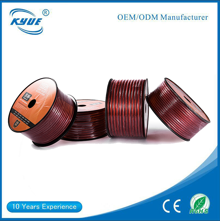 6mm core copper clad aluminum wire power speaker cable for car