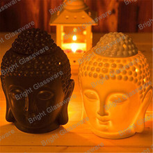 new product buddha shape ceramic oil burner, electric ceramic candle holder diffuser burner