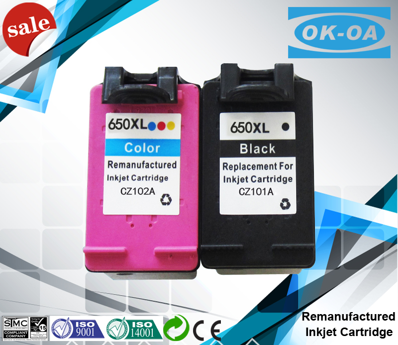 0 cent to get free sample refill chip reset to full level ink cartridge 650 for hp 1015 650