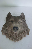 Through carved carving type and Folk Art Style reisn wolf head wall decoration