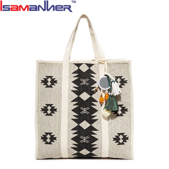 New design lady bag handbag wholesale embroidered canvas beach bags 2017
