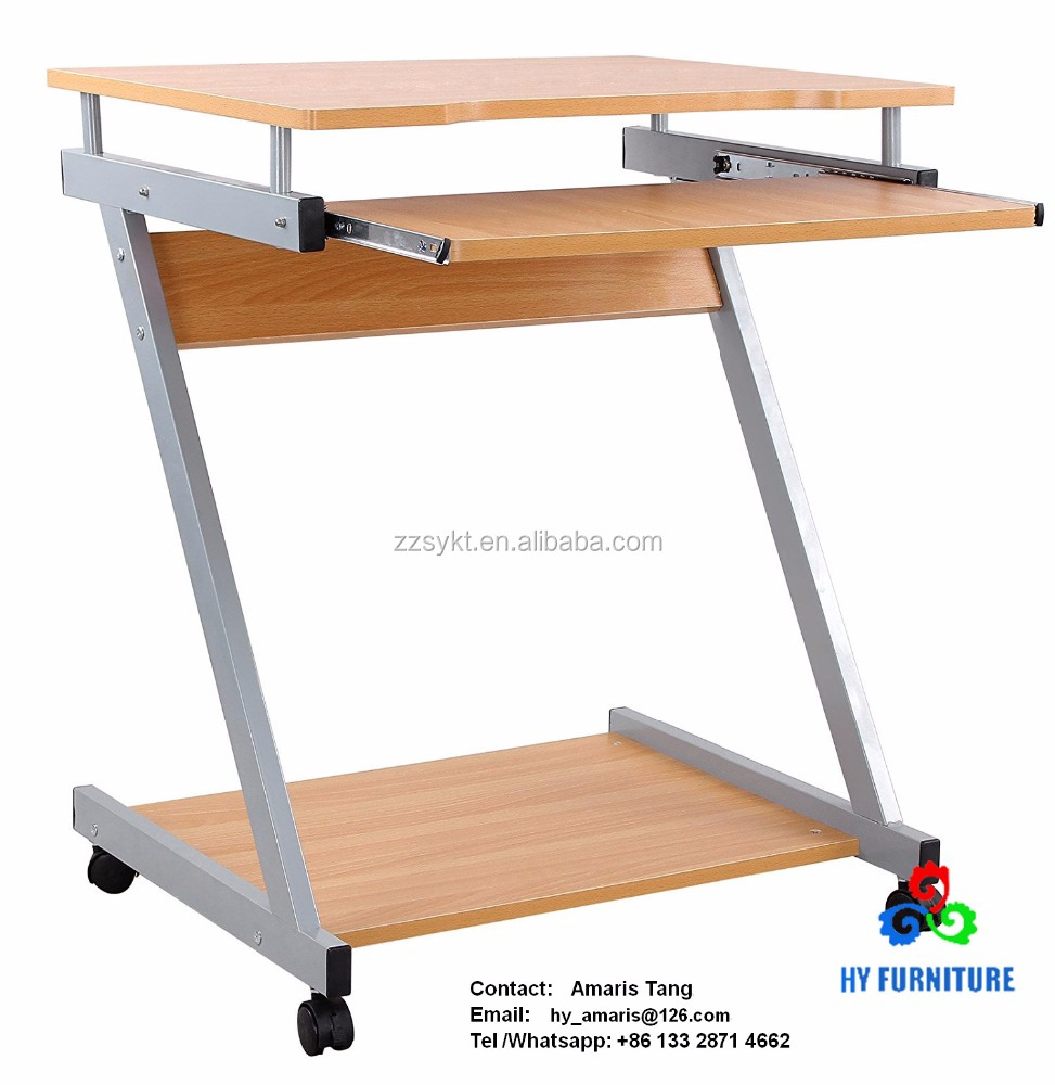 Home office furniture wooden rolling computer desk pc laptop table study desks workstation wholesale