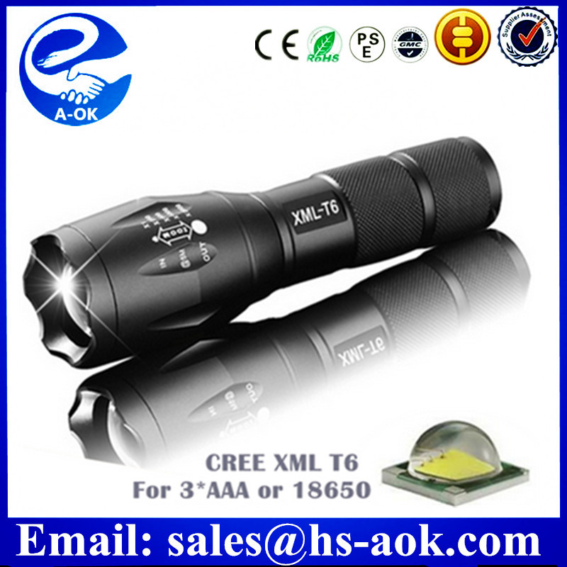 Adjustable Focus Mini LED Flashlight Torch, Super Bright, Batteries Included, Zoomable LED Flashlights