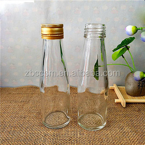 100ML/200ML/250ML/500ML Clear Empty Glass Milk Bottle