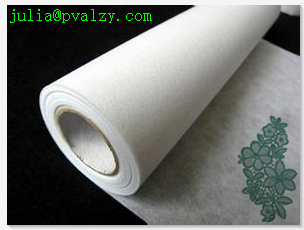 China PVA water soluble tear away film paper for embroidery