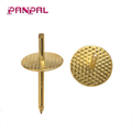 Brass plated One Step Hanger push pin