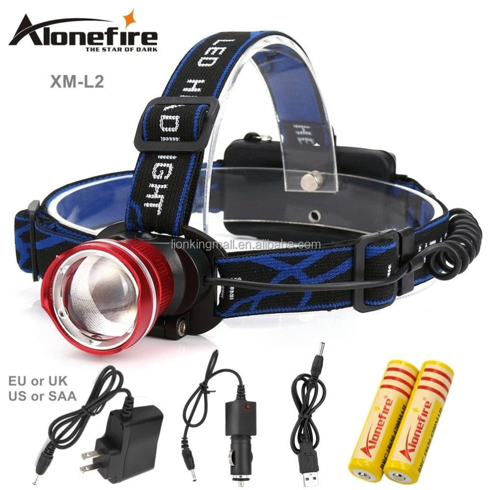 AloneFire HP87 LED Headlight xml <strong>L2</strong> led headlamp zoom 18650 Head lights head lamp 2200lm zoomable lampe frontale LED flashlight