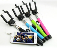 Christmas gift supplying Z07-5 plus cable take pole selfie stick with earphone cable for all mobile phone
