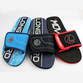 Customized men flat cloth upper sandals EVA sole slippers