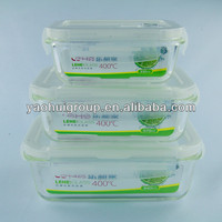 Clear Rectangular Pyrex Silicone Frozen Food Lunch Glass Containers With Lid For Adults China Supply