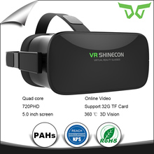 VR Shinecon New Product 5.0 inch Quad Core CPU 720p HD Screen ALL IN ONE VR Headsent 3d box glasses