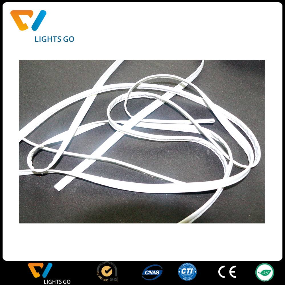 sewing on active garment fashionable elastic colorful reflective piping