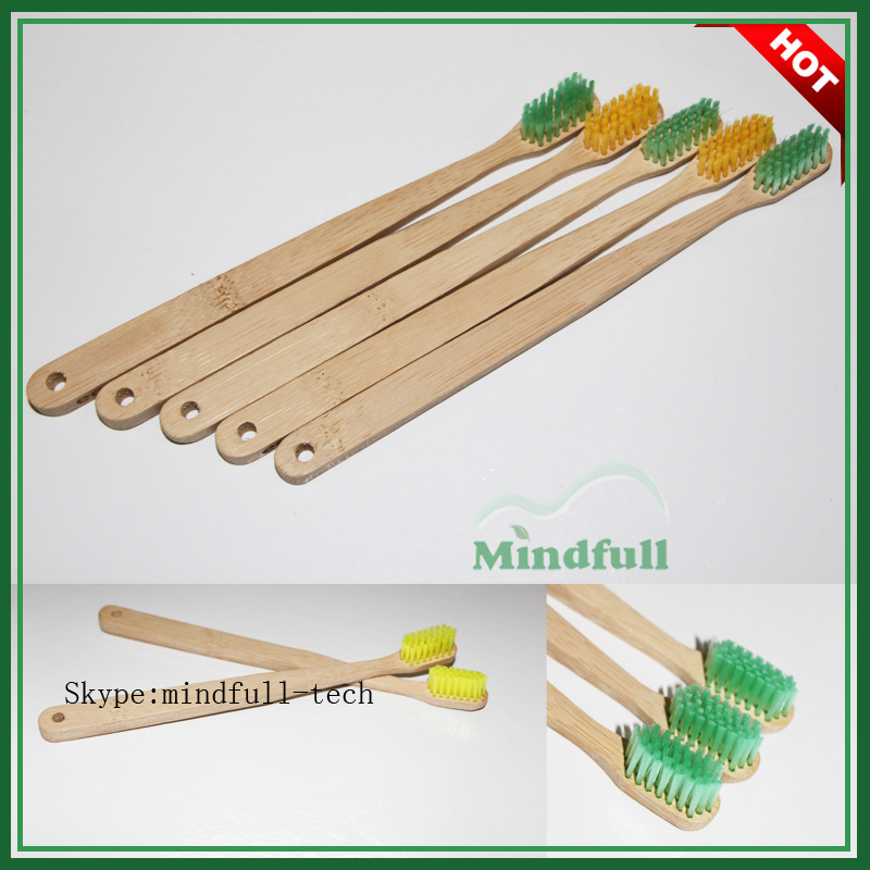 Dupont Nylon Bristles Bamboo Handle Small Head Adult Toothbrush