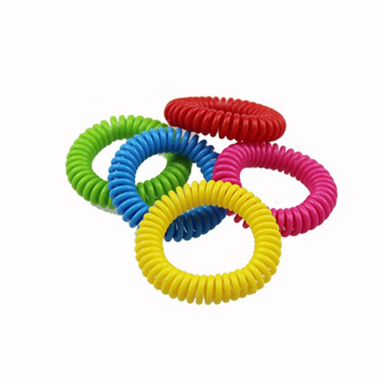 Multicolor Spring Coil Anti Children Mosquito Repellent Bracelet