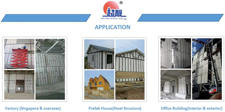 Sound/heat insulated magnesium cement wall panels lightweight fireproof board