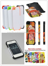 Sublimation Dual Protective Phone Cover; 3d Sublimation Cases for Iphone 4/4s; 3d phone cases for Iphone4/4s