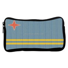 Aruba Flag Neoprene thermal transfer printing zippered Pencil Case