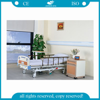 AG-BMY001 nursing home care folding hospital bed medical equipments 2 cranks manual manufactures hospital beds price