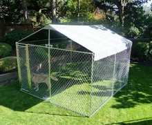 Factory direct backyard metal galvanized dog kennel wholesale