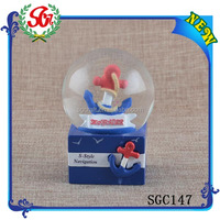 SGC147 Swimming Jumping Dolphins Ocean Blue Snow Globe, Giant Snow Slobe