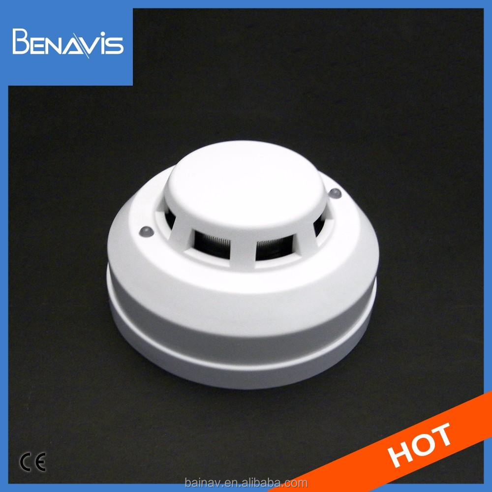 Network fire alarm dc9v wall mounted wired optical smoke fog flame sensor