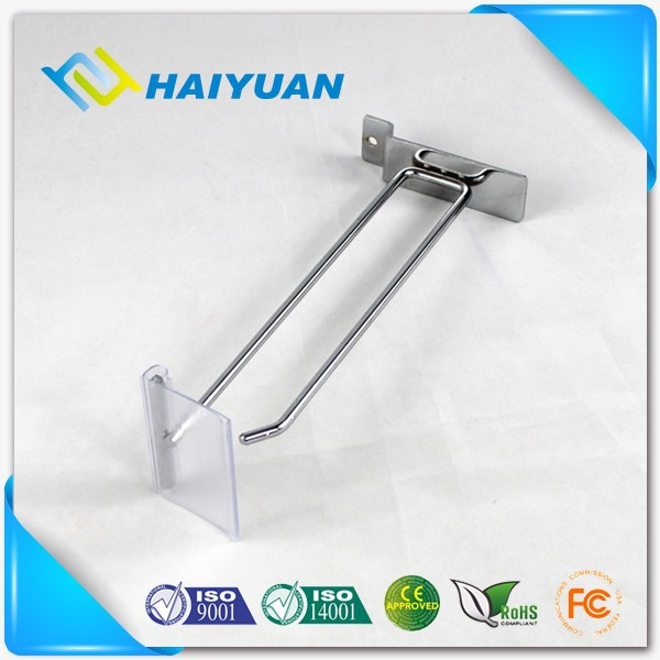 Manufacture with price tag slatwall display rack hook