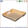 kitchen foil rectangular wooden tray with handle for fast food