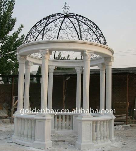 Sostenere colonne gazebo intagliato a mano da giardino in for Colonne da giardino