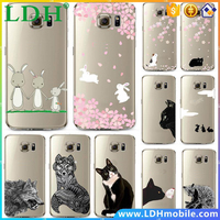 Hot Vtg Style For Samsung S7 Cartoon animal Cat Owl Rabbit case Design Patterns Transparent Soft Phone Case Cover