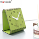 Mandelda Creative 3D Wall Clock Modern Small Wooden Home Decorative 3D Watches Silent Quartz Desk Clock on Table