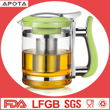 JMHH88B3-7 7Pcs Nice and Exclusive Glass Tea Set Tea Pot Set Coffee Set With 6 Cups Dressing With Heat Resistant Silicone
