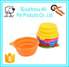 Folding Portable Travel Dog Bowl Silicone Collapsible Pet Bowl for Food and Water