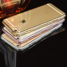 2016 High quality cheap price luxury hybrid gold mobile phone cover tpu soft gel cases designs for iphone 6 6s