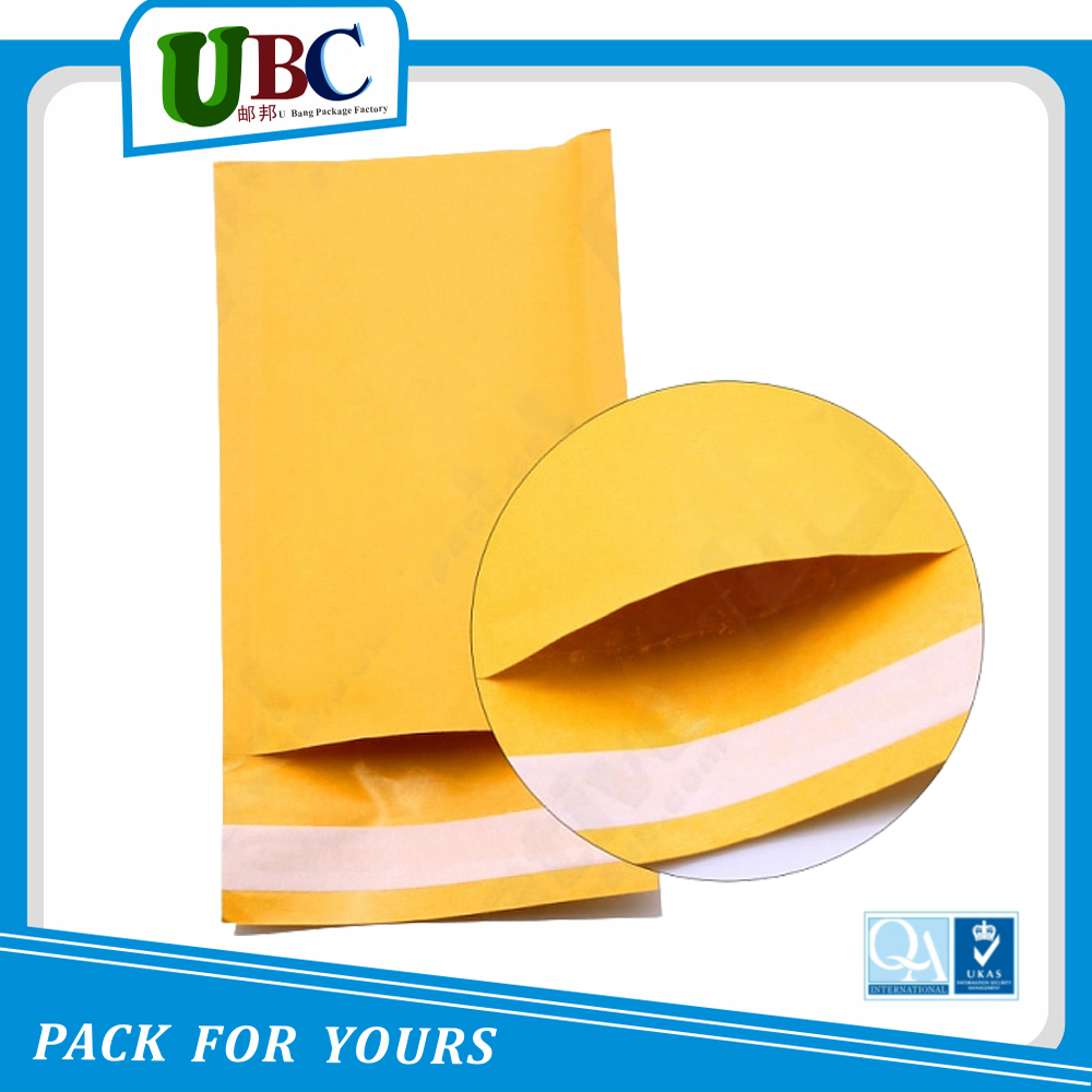 2016 Hot Sale Gold Kraft Bubble Mailer, Padded Bubble Envelopes