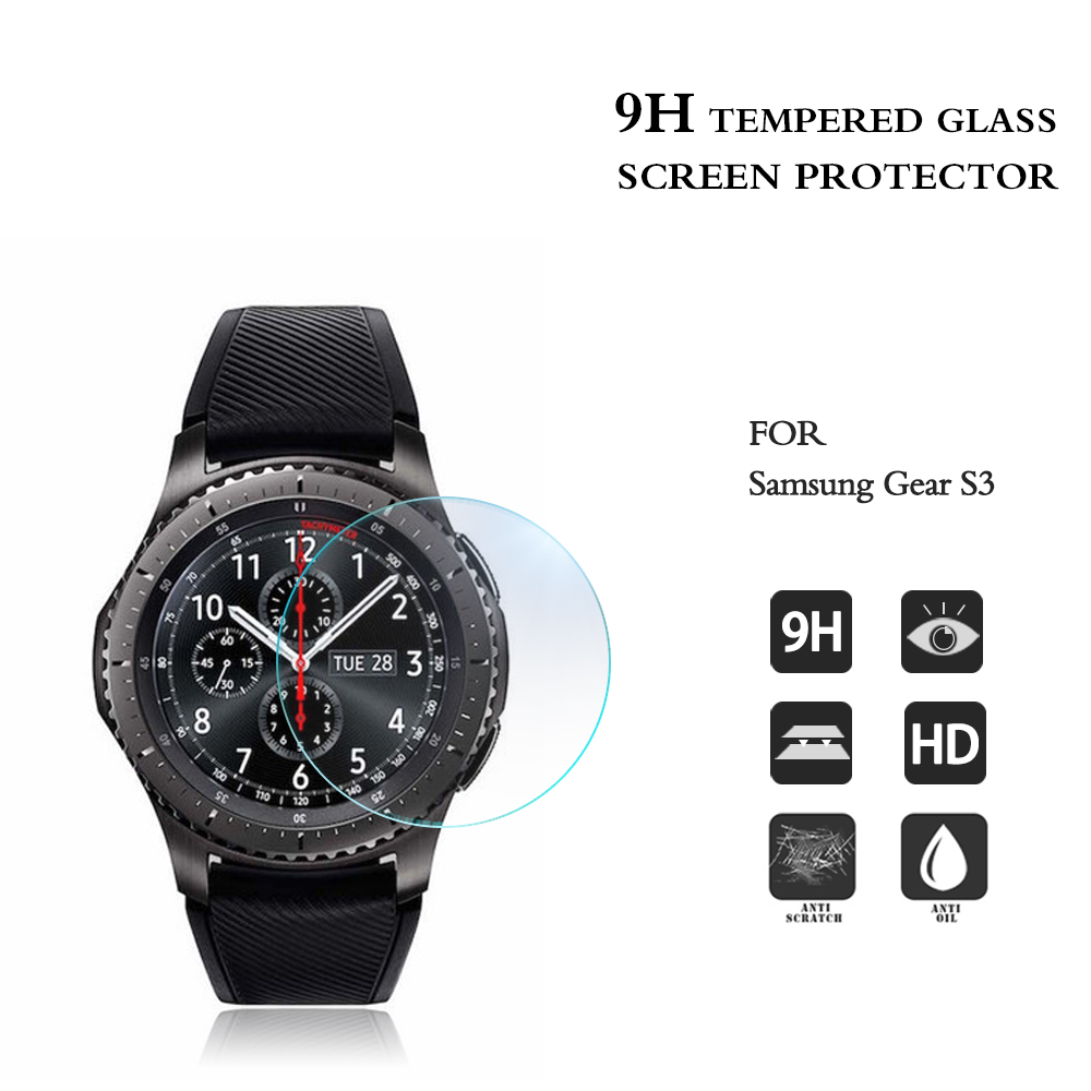 New arrival 9H tempered glass screen protector for samsung gear S3 S2 classic film Guard Protector high clear anti-scratch