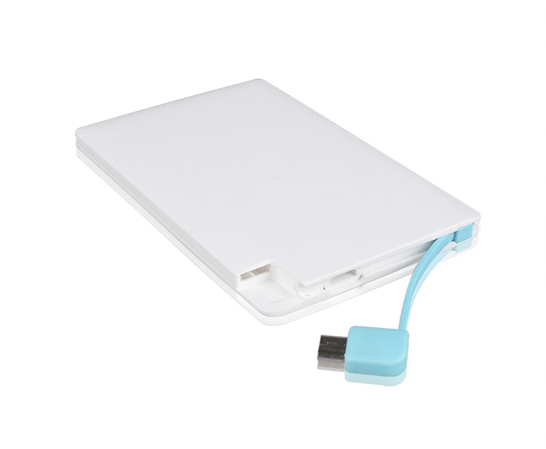 New arrival super slim Credit Card Power Bank 2500mAh Micro USB Cable Pocket Power for Ios Samsung and HTC