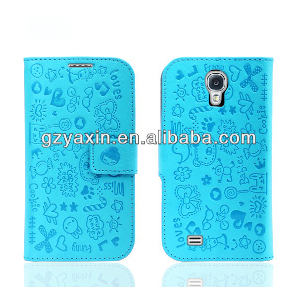 2014 Most Pot Popular Delicate Mobile Phone Leather Case For Samsung s4