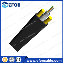All Dielectric Kevlar yarn strengthen 2-24 core flat aerial drop cable (access cable)